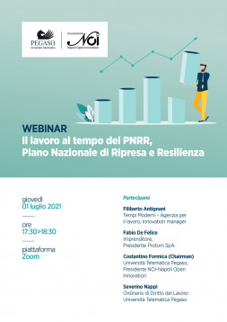 Il lavoro al tempo del PNR, Piano Nazionale di Ripresa e di Resilienza